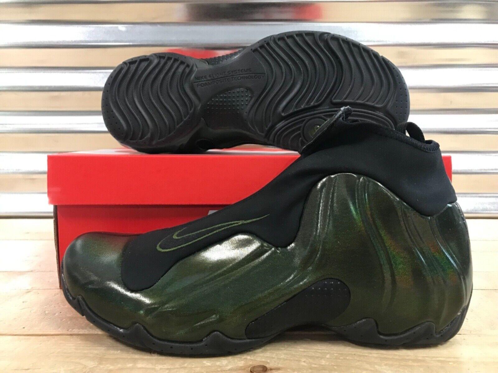 Nike Air Flightposite Basketball shoes Legion Green Black Foam SZ ( AO9378-300 )