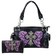 21771c4c72 item 2 Western Purse Rhinestone Cross Angel Wings Concealed Carry Handbag  Wallet Set -Western Purse Rhinestone Cross Angel Wings Concealed Carry  Handbag ...