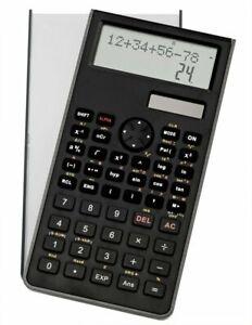 GENIE-82SC-Taschenrechner-zweizeilig-programmierbar-Solar-Rechner-Schule-schwarz