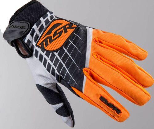 NEW MSR Racing Axxis Orange Grey M16 Gloves motocross atv off road KTM