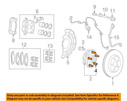 CHRYSLER OEM Brake-Front-Wheel Stud 6509858AA