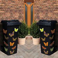 20x Schmetterling Mülltonnen Deko Aufkleber Garten Schmuck Sticker Wandtatoo Neu