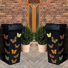 20x FARFALLA BIDONI SPAZZATURA adesivo decorazione Giardino Addobbo parete Nuovo