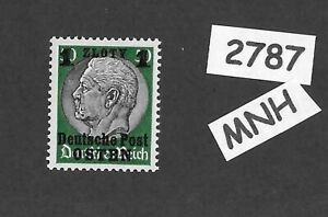 MNH-OSTEN-overprint-stamp-1940-Hindenburg-1-ZL-German-occupation-Poland-WWII