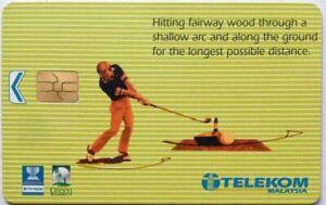 Malaysia Used Phone Cards - World Cup Golf Malaysia '99