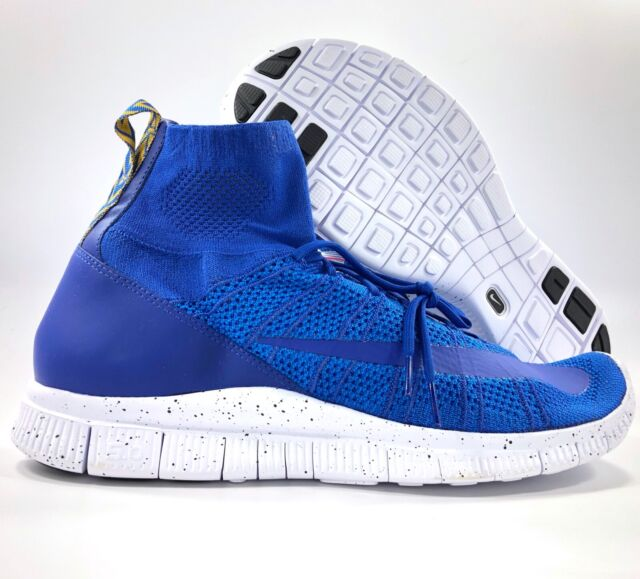 Nike Free Flyknit Mercurial Game Royal Blue White 805554 400 Men's 13