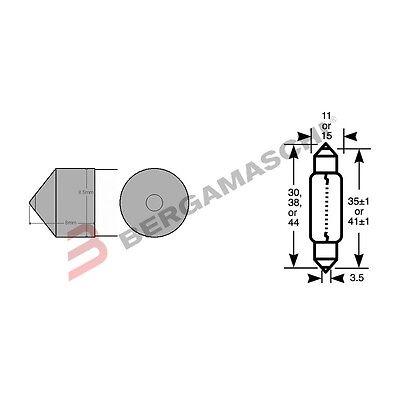 Unter Der Voraussetzung 10 Glühbirnen Okyami Torpedo 12v 21w 15x44
