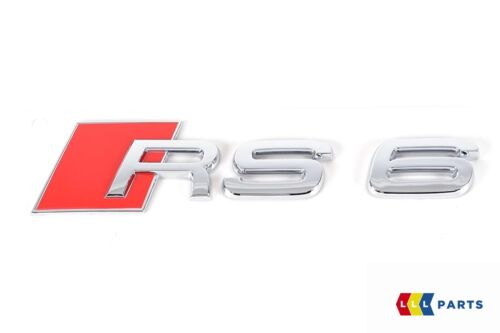 NEW GENUINE AUDI A6 S6 RS6 CHROME RS6 BACK TRUNK BADGE EMBLEM 4B0853740 2ZZ