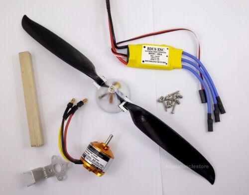 ,10x8 Folding Prop./& 30A BL ESC Kit for RC Glider PGK108 1 set BL Motor KV930
