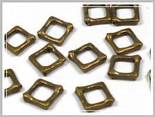 10 Metallperlen Rahmen bronze 16*16mm Perlen