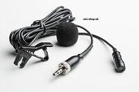 Cardioid Tie Clip Lapel Lavalier Microphone Sennheiser Compatible EW100 EW300