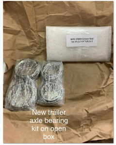 1.719 for #84 Spindle WPS 3500# Trailer Tandem Axle Bearing Kits L68149 L44649 Grease Seal 10-19 I.D Set of 4