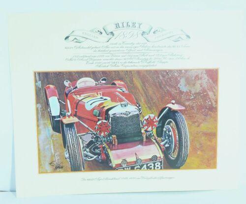 Riley Typ Brooklands 1898  Oldtimer Sportwagen  Kunstdruck Poster Bild   41x33cm