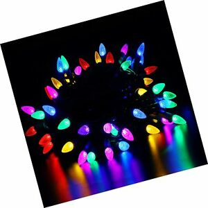 VanRayal C3 Christmas Tree Lights Multicolor,50 LED 18ft ...