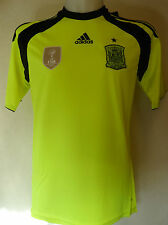 SPAIN FOOTBALL 2014  AWAY GOALKEEPERS JERSEY BY ADIDAS ADULTS SIZE XL BNWT