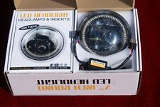 7 Inch Hi Lo H4 LED Headlight Bulb With Angel Eeyes 2 HEADLIGHTS