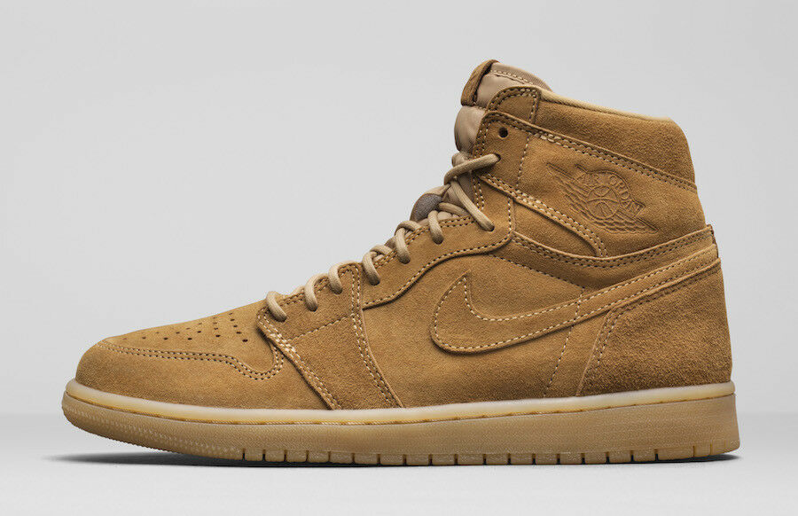 2017 Nike Air Jordan Retro 1 High OG SZ 9.5 Wheat Golden Harvest Flax 555088-710