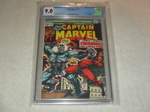 CAPTAIN MARVEL 33 CGC 9.0 ORIGIN OF THANOS MARVEL 1974