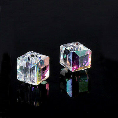 DIY jewelry 50pcs 6x6x6mm Exquisite Crystal 5601 Cube Beads You Pick Color