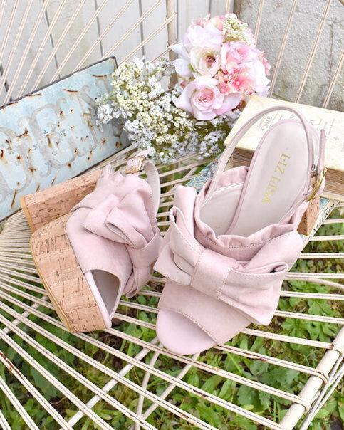 edizione limitata a caldo LIZ LIZ LIZ LISA - Cork heels ribbon sandals  in cerca di agente di vendita