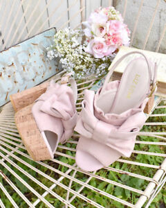 LIZ-LISA-Cork-heels-ribbon-sandals