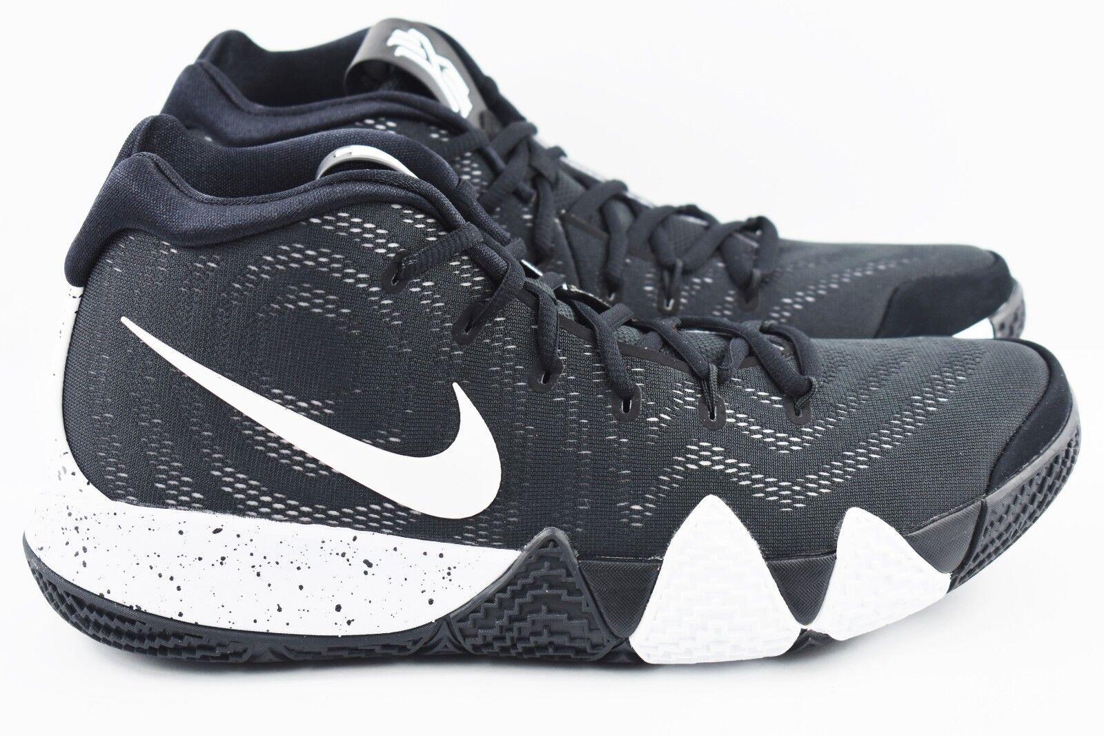 Nike Kyrie 4 TB Mens Size 11.5 Basketball shoes AV2296 001 Black White Oreo