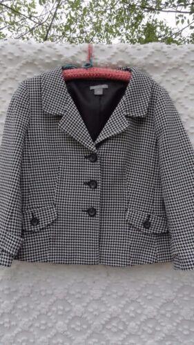 Elegant Taylor Look Sort 14 Hvid Vintage Cotton Rayon Foret Ann jakke savner zwCdqxRq