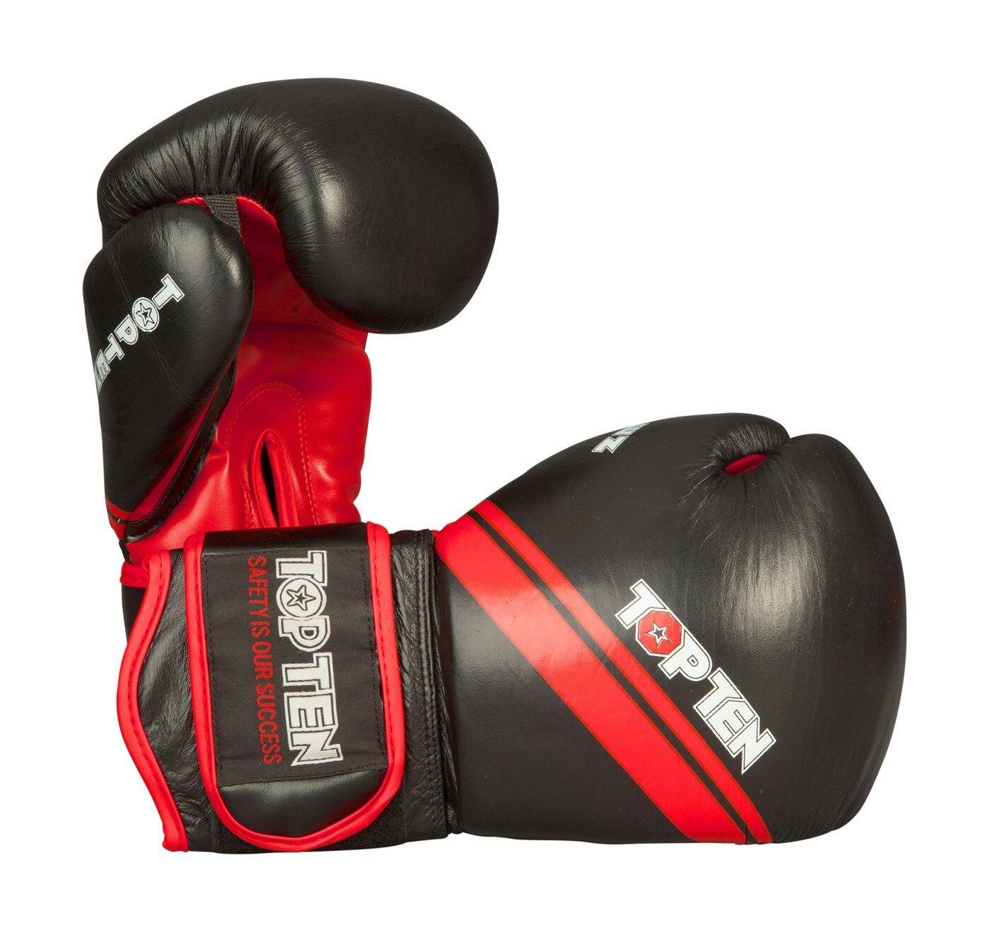 Top Ten- Boxhandschuh für Sparring und Training.  ThaiStyle ThaiStyle ThaiStyle . 10-16oz. rot. grün 78d061
