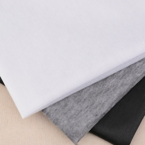 Iron On Fusible Interfacing BLACK MEDIUM WEIGHT Fabric 100cm Wide Per Metre