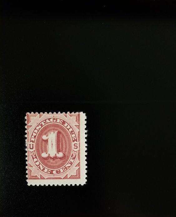 1891 1c Postage Due, Bright Claret Scott J22 Mint F/VF