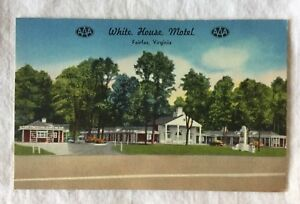 New-Mellinger-Studios-Postcard-White-House-Motel-Fairfax-Virginia