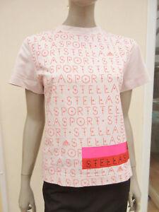 Stella-Sports-Adidas-Natural-Short-Sleeved-Printed-Top-size-8-10