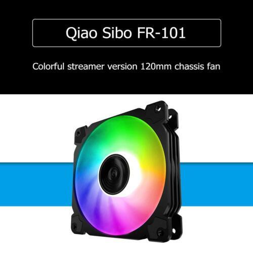 Jonsbo FR-502 120mm Colorful LED Cool Radiator Fan Computer Case Heat Sink Black