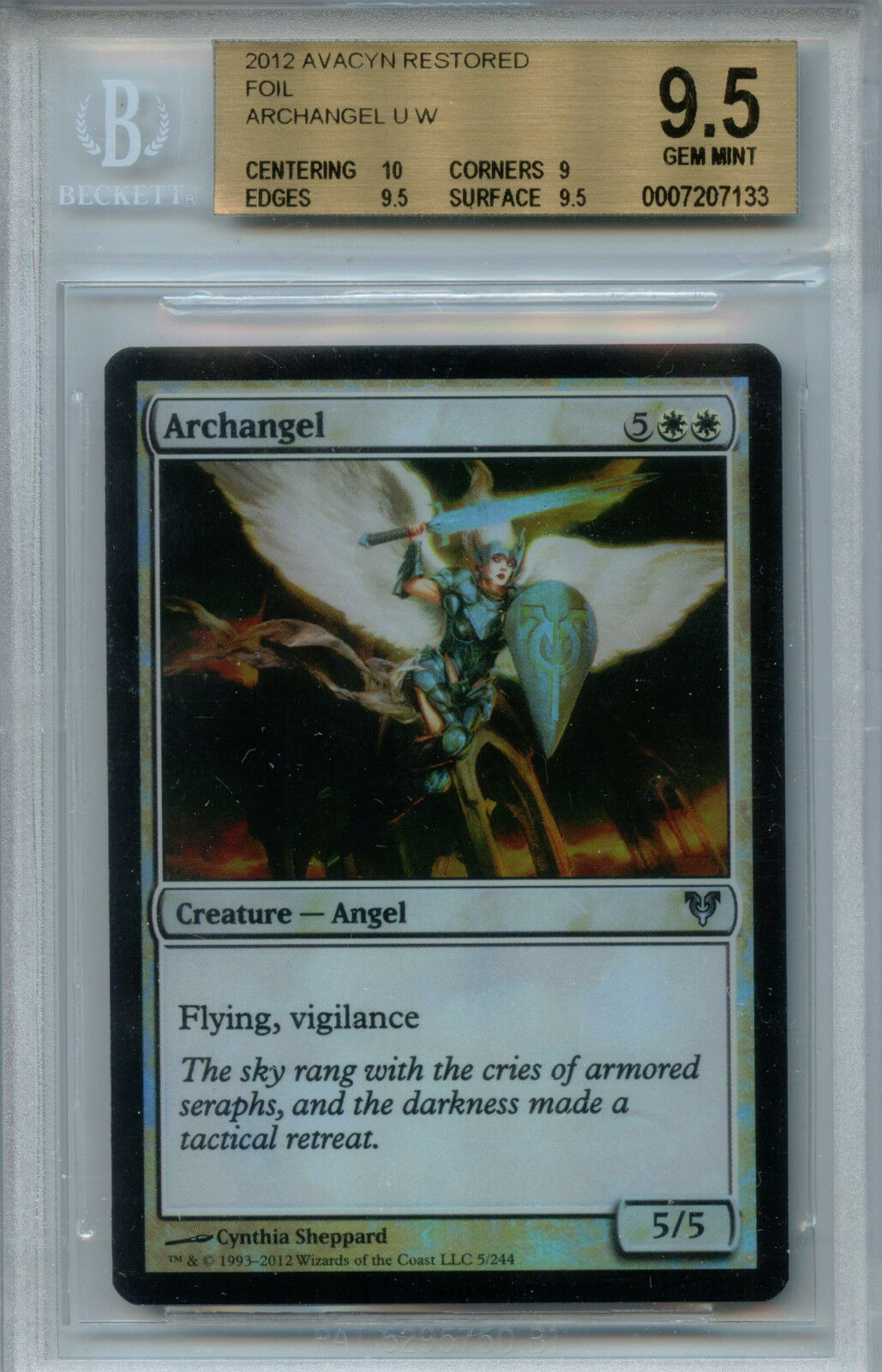 MTG Archangel BGS 9.5 Gem Mint Avacyn Restored Foil Magic Card Amricons 7133