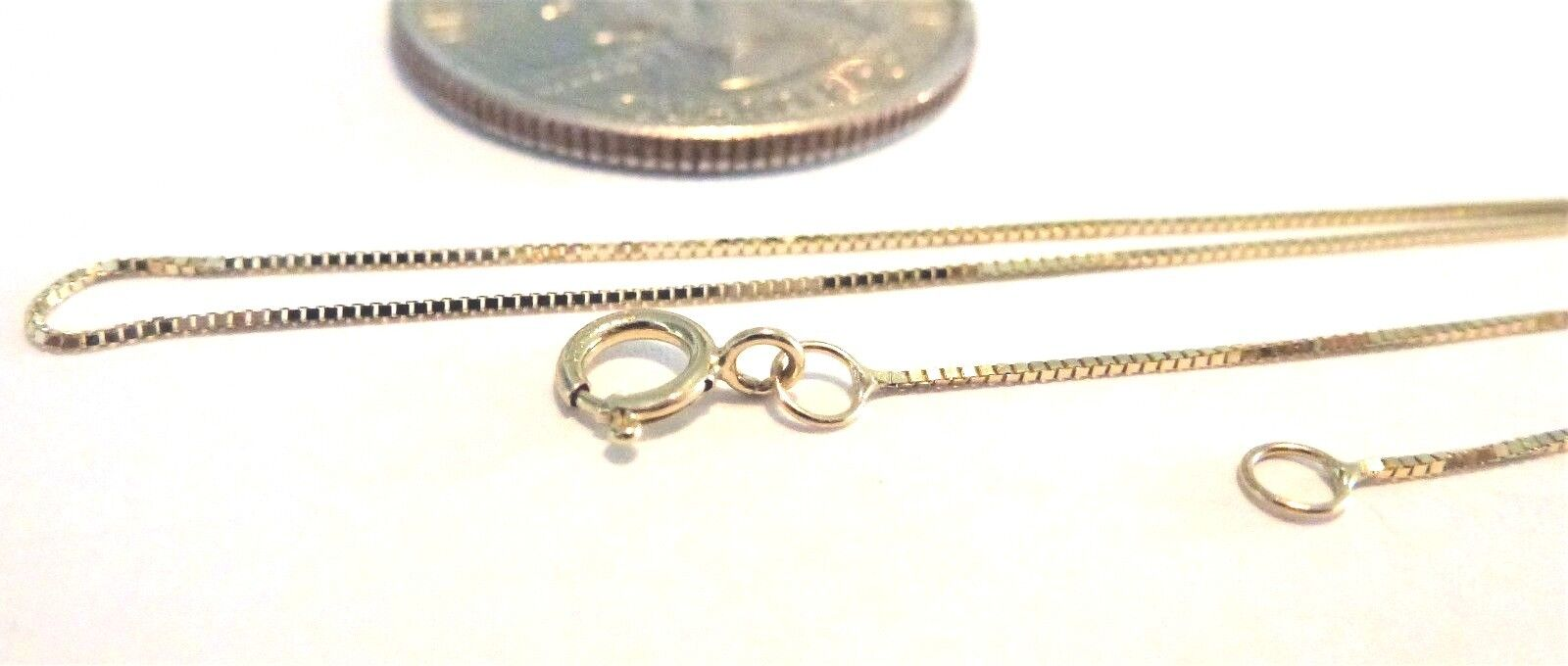 14kt Pure Solid gold 18 inch .45MM BOX Chain W Gift Box..............Guaranteed
