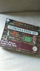 * Neuf/scellé * Coronation Street Rovers Retour Audio Pub Quiz-afficher Le Titre D'origine Rendre Les Choses Pratiques Pour Les Clients