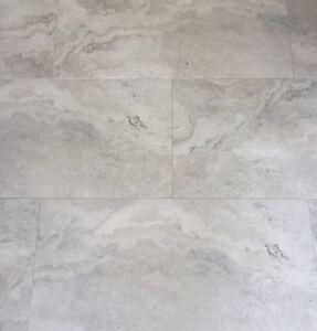 Silver Travertine Porcelain Tiles 600x600 First Quality Ebay