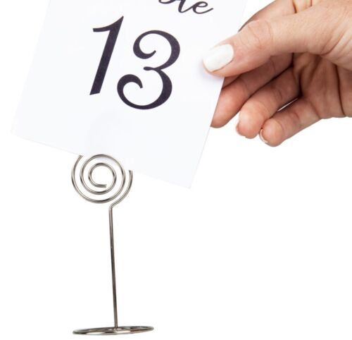 20 Pack Table Number Card Holders Photo Holder Stands Place Paper Menu Clip