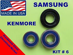 SAMSUNG-FRONT-LOAD-WASHER-2-TUB-BEARINGS-amp-SEAL-Kenmore-KIT-6-DC62-00223A