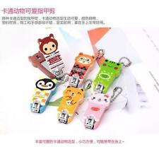 Kawaii Cute Animals Cat Bear Hand Nails Cutter Clipper Keychain Colors Girl Gift