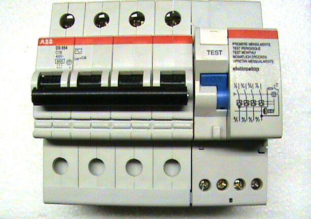 ABB DS654 C16 0,3A EY 1232 INTERRUTTORE MAGNETOTERMICO DIFFERENZIALE