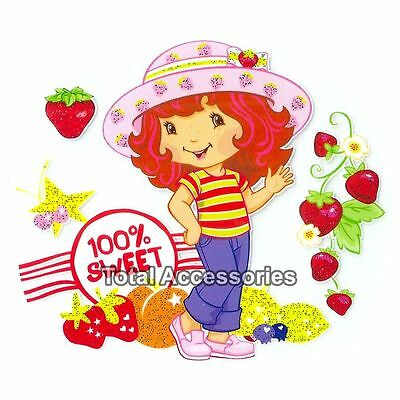 100% Sweet Strawberry Cakes - Iron On T-Shirt Glitter Heat Transfer - NEW