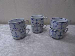 6-X-Porcellana-Tazza-da-Caffe-Design-Elicrisio-Vintage-Dipinti-Mano