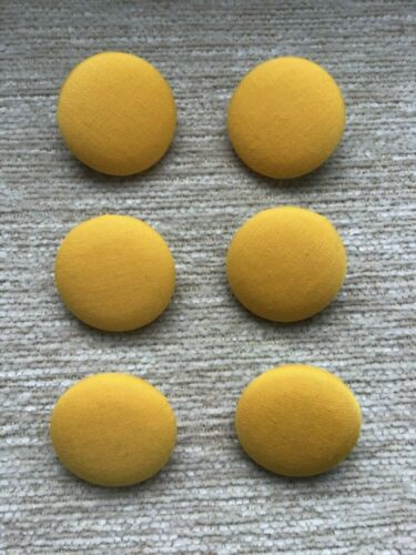 Marigold Yellow 45L//28mm Fabric Covered Buttons Craft Sewing Upholstery