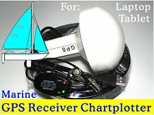 Laptop GPS Receiver+ Marine Antenna/ Chartplotter Google earth Garmin Cmap Boats