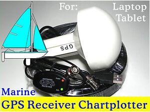 Marine Laptop GPS Receiver + Antenna Google Earth Cmap Garmin Chartplotter Yacht