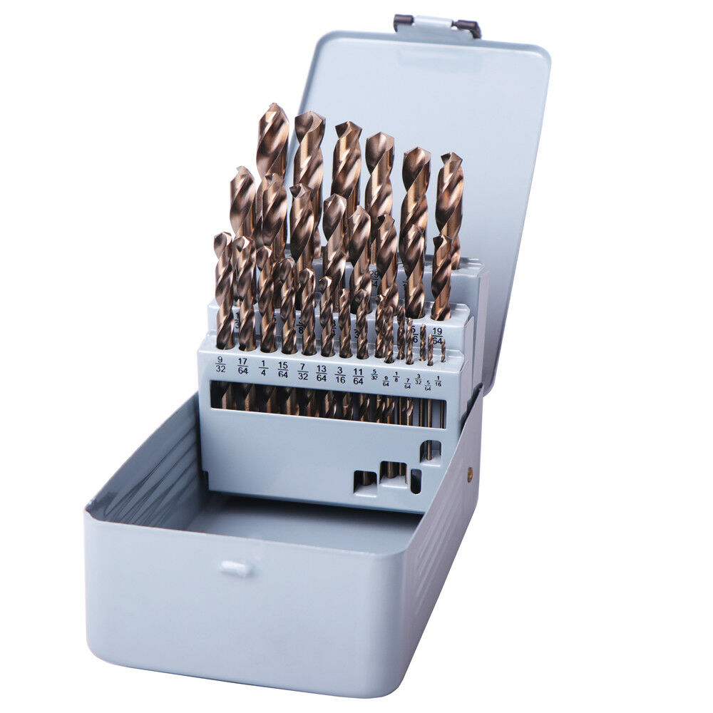 M35 Cobalt 74pcs Drills Bit Twisted Drill Bits HSS-CO 1.0-8.0mm stainless steel plate for drilling Drill Bit Set