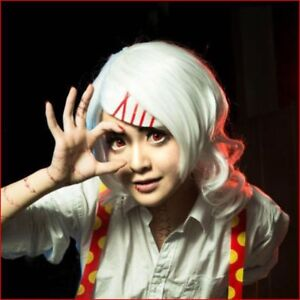 For-Cosplay-Halloween-Tokyo-Ghoul-Juuzou-Suzuya-White-Curly-Wig-Free-Red-Clip