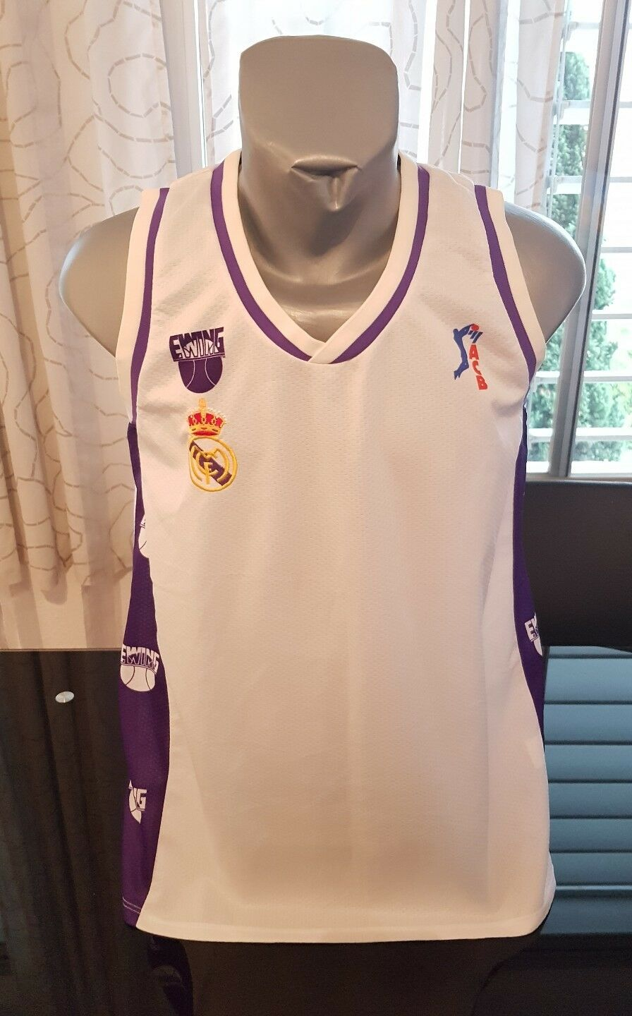 CAMISETA SHIRT VINTAGE 90'S EWING REAL MADRID BASKETBALL Taille L