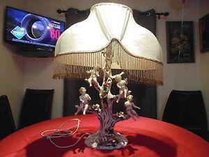 Antique Capodimonte Porcelain Cherub Lamp Made In Italy Ebay
